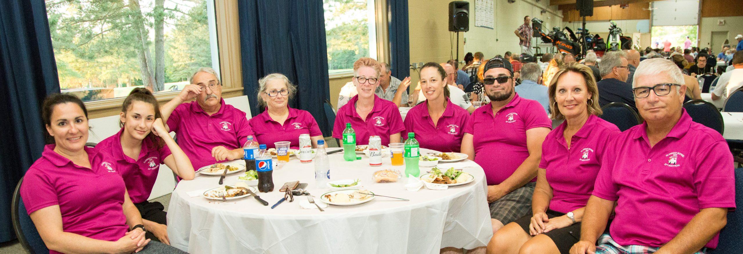 Bénévoles au tournoi de golf Olymel